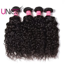 UNice Hair Water Wave Bundles Brazilian Human Hair Bundles Virgin Human Hair Extensions Remy 4 Bundles Cheap Unprocessed Wholesale Nice Weft