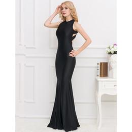wholesale Women's Long dress springtime summer autumn Plus Size Dresses Black red Slim Bodycon dresses backless sexy dresses
