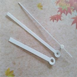 Wholesale 50 Sets Long Metal White Clock Hands Repair Clock Accessories For DIY Wall Clock Kits