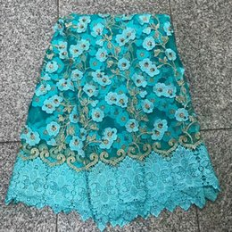 5yards pc New stones African French Tulle Net Lace Fabric Fashion Nigerian Wedding African Lace Fabrics For Dress