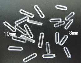 (8mm , 10mm) 100pcs lot clear rubber stopper, fix the slide letters and slide charms on the bracelet wristband