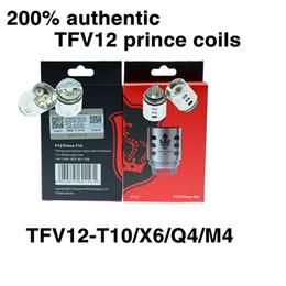 Authentic TFV12 Prince Coils Q4 X6 T10 M4 Massive Vapor Vape Replacement Coil Head For Cloud Beast Tank