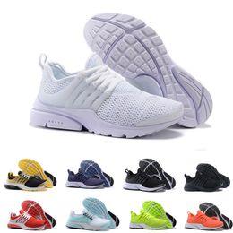 2018 New PRESTO BR QS Breathe Yellow Black White Mens prestos Shoes Sneakers Women,Running Shoes For Men Sports Shoe,Walking designer shoes