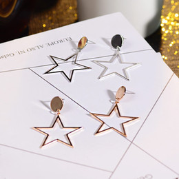 Fashion Burst Earrings Love Five-Pointed Star Geometric Shape Pendant Earrings Wholesale Statement Five-pointed Star Pendant Earrngs 88600Z