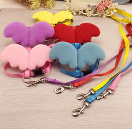 1.5cm Nylon Weave 120cm Adjustabl Safety Dog Collars Leashes Angel's Chest And Back Rope Wings Small Pet Supplies for 5 Colours S-m