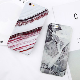 free ship Abstract Marble Stone Image Phone Case For iPhone 6 6s Plus Flower Leaf Back Cover Hard PC Cases For iPhone 6S 7 8 Plus whoesales