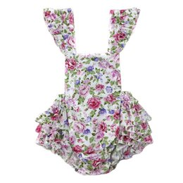 Wholesale baby clothes Girl's Floral Jumpsuit Suspender Trousers Pant Cotton Flower Print Kids Summer Outfit