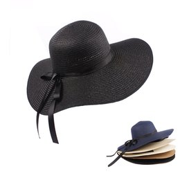 Lady sun hats straw beach hats wide brim for outdoor traveling fashion style lady hats casual