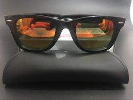 AAAA+ quality Glass lens Metal hinge Brand Designer Fashion Men Women Plank frame Sunglasses UV400 Sport Vintage Sun glasses With box