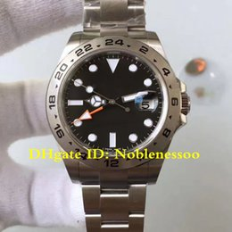2 Style Luxury Best Edition Mens 42mm Steel Explorer II Black Index Dial 216570 CAL.3187 Movement Automatic Watches