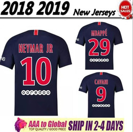 2019 2018 NEW NEYMAR JR 2018 new kit soccer jerseys MBAPPE Verratti Cavani Di maria Yellow 1819 Maillot De Foot FOOTBALL man shirt