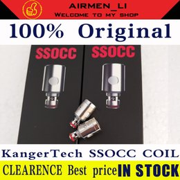 100%authentic Kangertech SSOCC Vertical Coils head upgrade 0.5 1.2 1.5 ohm For replacement kanger fit toptank Nebox subvod Atomizer