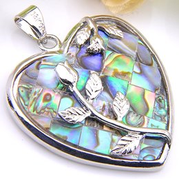5 Pieces 1 lot Luckyshine Best Wholesale Natural Shell Crystal 925 Sterling Silver Russia USA Australia Pendants for necklace