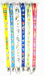 Free shipping 50pcs cartoon Snoopy neck Lanyard Cell Phone PDA KEY ID Holder long strap