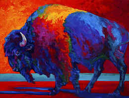 Abstract Bison Artwork Unframed Modern Canvas Wall Art for Home and Office Decoration,Oil Painting ,Animal painatings ,Frame painting
