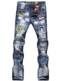 2018 New Mens Jeans Fashion Torn Jeans Personality Repair the body jeans