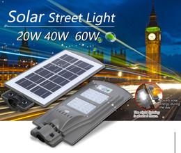 20 40 60W Outdoor Waterproof Solar Street Light LED Radar Sensor Lamp Wall Street Path Light For Garden