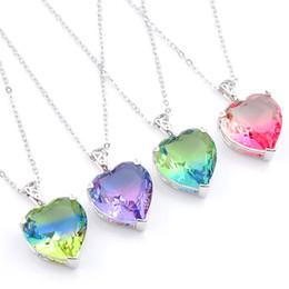 New Gem Jewelry Pendant Luckyshine 4pcs lot Party Holiday Jewelry Gift Trendy Tourmaline Gemstone 925 Silver Women Pendant Necklace 16mm