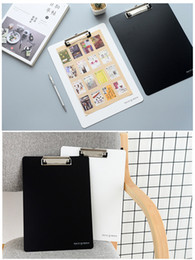 1pc Cute PP small fresh clipboard A4 white black document bag file folder papelaria business financial school supplie free shipping 2018 new
