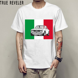 2018 Italy national treasures alfa t shirt men white Casual Breathable plus size tee shirt homme Italian style tshirt