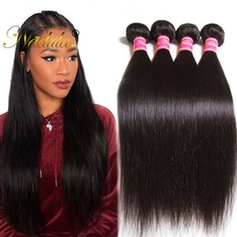 Nadula Brazilian Virgin Hair 3Bundles Peruvian Hair Weave 4Bundles Straight Raw Indian Human Hair Extensions 100% Remy Human Weave Wholesale