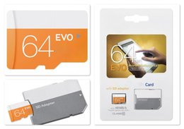 2018 New Arrival EVO 64GB 256GB 128GB 32GB Class 10 Flash TF Memory Card Free SD Adapter Retail Blister Package Epacket DHL Dropshipping