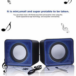 Portable USB 2.0 Multimedia Desktop Computer Notebook Mini Speaker set Music Stereo Home Theater Party Speaker 3.5mm free shipping 2018 new