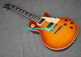 Wholesale - new Custom shop Tiger striped maple Electric Guitar Free Shipping (accept any custom color)