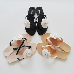 2018 hot sale Fashion Camellia slippers summer flip flops shoes pinch flat jelly shoes female sandals women summer shoes 36-40