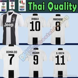 464fbd48f New Juventus RONALDO  7 Soccer Jersey 2018 2019 man HIGUAIN 9 DYBALA 10  Mandzukic 17 Bernardeschi 33 D. Costa 11 Cuadrado 7 football shirt