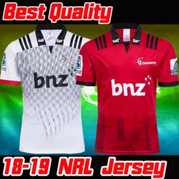Best Quality nrl jersey 2018 2019 New Zealand Crusaders home and away rugby Jerseys NRL National Rugby League men shirt size S-5XL