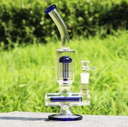 REANICE 31cm 18.8mm Recycler Glass Water Bong Straight Pipe Honeycomb Branch Water Oil Rigs percolator Tornado Tube Vortex all banger beaker