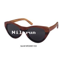 vintage style cat eye shape wooden sunglasses