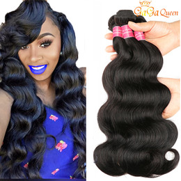 8A Brazilian Peruvian Body Wave Virgin Hair Bundles Brazilian Indian Malaysian Body Wave Human Hair Weave Bundles Natural Color Gaga Queen