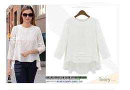 PT127 roupa feminina chiffon t shirt women tops blouse short sleeve summer
