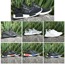 2018 Wholesale Hot NMD R1 Primeknit PK Perfect Authentic Running Sneakers Fashion Running Shoes NMD Runner Primeknit sport drop shipping