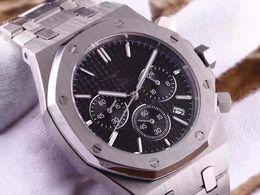 New Top Luxury Men's Watch Stanless Steel Bezel 42mm High Quality VK Chronograph Quartz Movement Sports Men Business Sapphire Wristwatch