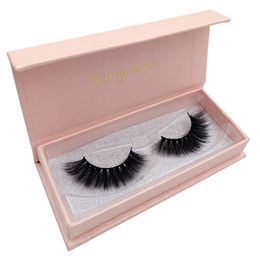 Can be customized False Eyelashes 3D Fake Eyelash 100% Mink Lashes With Pink Magnet Box Luxury Make up Eye Lashes
