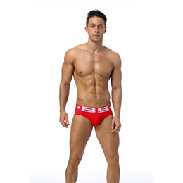 2018 Men Sexy Underwear Briefs Gay Penis Pouch Mens Bikini Brief Underwear Man Sleepwear Cotton(4pieces bag)