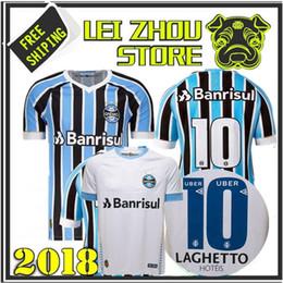 2018 2019 Gremio Away White Soccer Jersey Stock 18 19 Gremio Home MILLER LUAN DOUGLAS DIEGO HAILON Soccer Jerseythird Best Quality