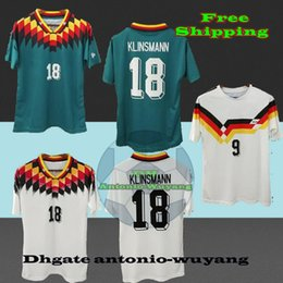 1990 1994 Deutschland Germany Retro home away Hummels Soccer Jersey 13 MULLER soccer shirt OZIL KROOS GOTZE Football uniforms sales