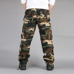 Spring and autumn new multi - pocket camouflage trousers overalls men's trousers multi - functional outdoor leisure pants trend