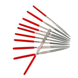 10pcs lot 140X3mm Diamond Mini Needle File Set Hand Tools for Wood Sharpening Grinding Carving Repair Cutting Tools free shipping hot sales
