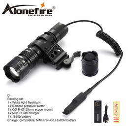 AloneFire TK104 XM-L2 led flashlight waterproof flash lights 5 modes tactic lintern flash light with remote pressure pad switch for Hunting