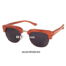 best selling gold metal red rosewood sunglasses