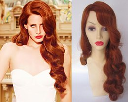 Deluxe Long Curly Orange Red Retro Heat Resistant Fashion Wig