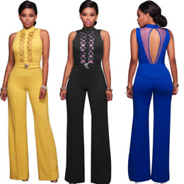 Sexy Deep V Neck Lace Up Bodycon Jumpsuit Romper Womens Jumpsuit Tops Elastic Slim Short Sleeve Jumpsuit Women Black Long Bodysuit jumpsuits
