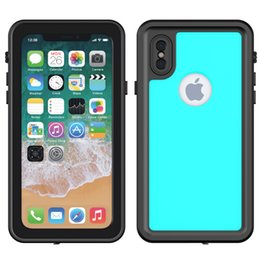 Diving Swimming Waterproof Phone Case For IPhone X TPU Slim Dustproof Shockproof Armor Phone Full Cover