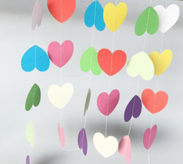 4meter heart dots paper Flag Party bell garland Decoration Banner Bunting for birthday wedding event free shipping 2018 new high quality hot