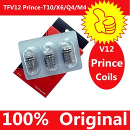 100% Original TFV12 Prince Cloud Beast Coil Head Replacement TFV12 Q4 X6 T10 M4 Coils Massive Vapor Vape Core Tank 100% Genuine Tech